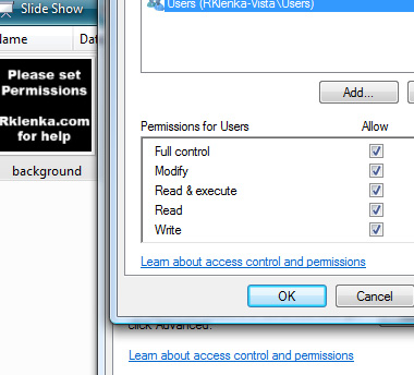 SideAmp for Windows Sideshow and sidebar gadget permissions